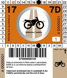 Виньетка Словении на 7 дней для мотоциклов